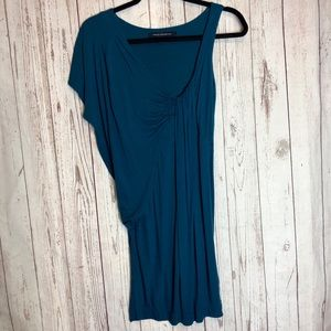 FRENCH CONNECTION | Teal One Shoulder Dress Sz 4